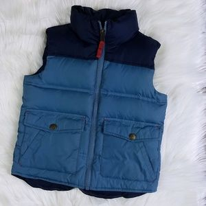 Lands' End Kids Blue Goose Down Vest
